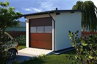 Projekt garażu G14 - Budynek garażowy