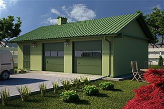 Projekt garażu G28 - Budynek garażowo - gospodarczy