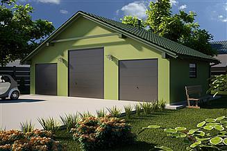 Projekt garażu G34 - Budynek garażowy