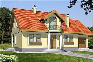 Projekt domu Agatka z garażem dwustanowiskowym