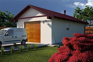 Projekt garażu G16 - Budynek garażowo - gospodarczy