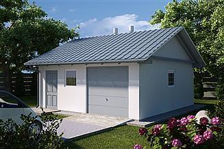 Projekt garażu G17 - Budynek garażowo - gospodarczy