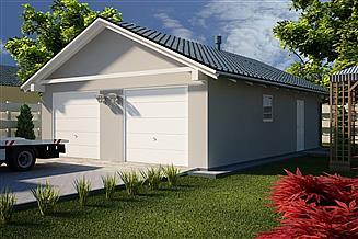 Projekt garażu G24 - Budynek garażowo - gospodarczy