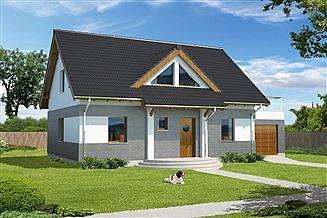 Projekt domu Darmstadt Pasywny 1 LDP01
