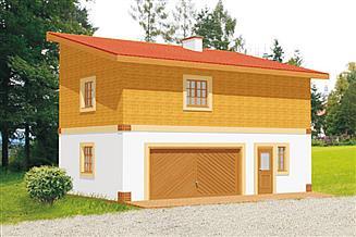 Projekt budynku gospodarczego BG 14