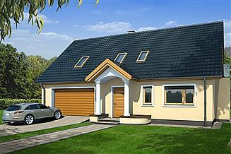 Projekt domu Sidney B 2-garaże