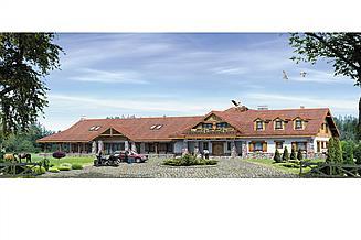 Projekt pensjonatu Cykada 4 Pensjonat, Hotel, Dom weselny