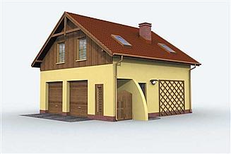 Projekt garażu GM1 garaż z częścią mieszkalną