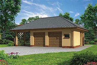 Projekt budynku gospodarczego G179 budynek gospodarczy