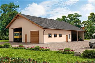 Projekt budynku gospodarczego G230 budynek gospodarczy