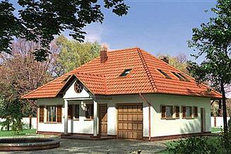 Projekt domu Mały Dworek - szkielet drewniany lekki