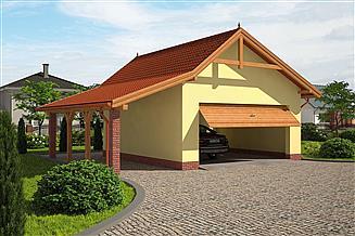 Projekt budynku gospodarczego G66 budynek gospodarczy