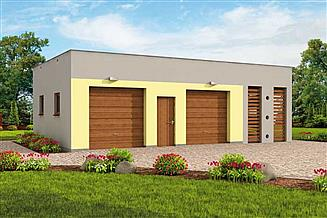 Projekt budynku gospodarczego G254 budynek gospodarczy