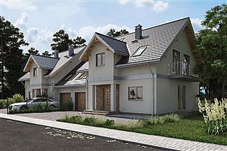 Projekt domu Fryda Duo - murowana – beton komórkowy
