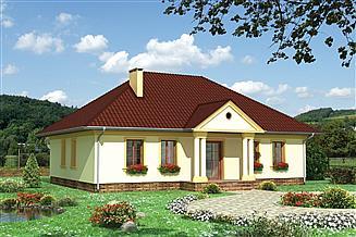 Projekt domu Aleksandria - szkielet drewniany prefabryk.