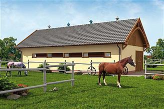 Projekt stajni S35 Stajnia dla koni - 4 boksy