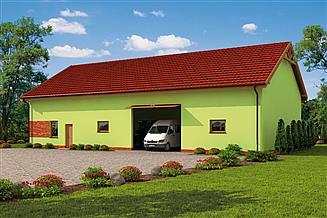 Projekt budynku gospodarczego G237 garaż / magazyn z pomieszczeniami gospodarczymi