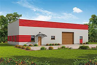 Projekt garażu G238 garażu / magazyn z pomieszczeniami gospodarczymi