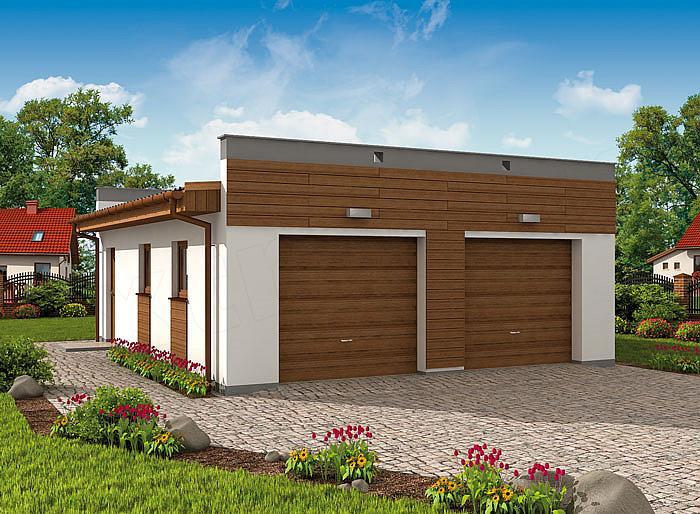 Projekt Domu G1a2 Garaż Dwustanowiskowy Z Pomieszczeniem