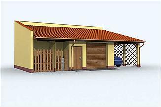 Projekt budynku gospodarczego G120 budynek gospodarczy