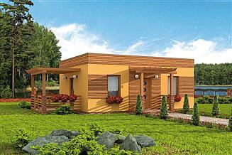 Projekt domu letniskowego Bayamo 2 dom letniskowy