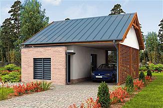 Projekt budynku gospodarczego G278 wiata garażowa