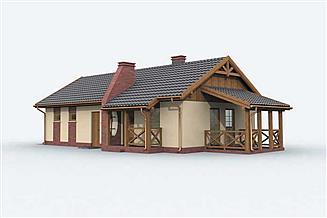 Projekt budynku gospodarczego GM2 budynek gospodarczy