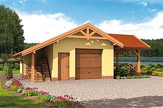 Projekt budynku gospodarczego G53 budynek gospodarczy