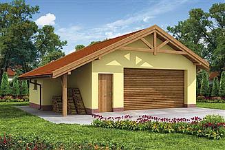 Projekt budynku gospodarczego G58 budynek gospodarczy