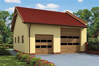 Projekt budynku gospodarczego G214 budynek gospodarczy