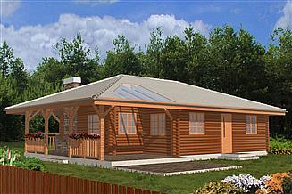 Projekt domu letniskowego Pogodny drewniany