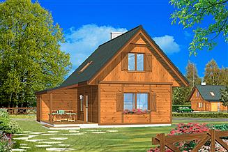 Projekt domu Francik z tarasem
