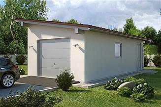 Projekt garażu G37 - Budynek garażowo - gospodarczy