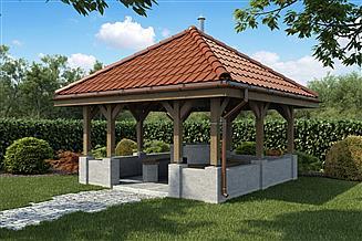 Projekt grilla / wędzarni Grill ogrodowy GR02