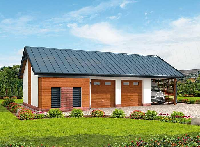 Projekt Domu G281 Garaż Dwustanowiskowy Z Pomieszczeniem