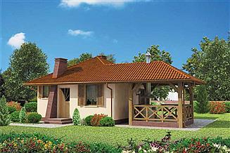 Projekt domu letniskowego ESTELLA dom letniskowy
