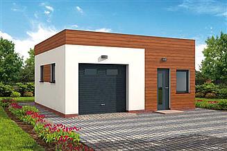 Projekt garażu G308 garaż jednostanowiskowy z pomieszczeniem gospodarczym