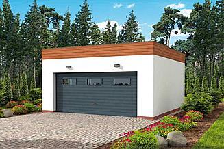 Projekt garażu G309 garaż dwustanowiskowy