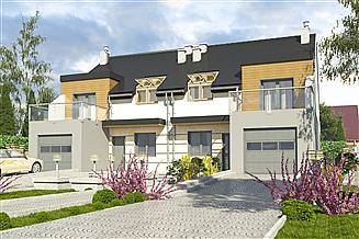 Projekt domu Gwarek z garażem 1-st. bliźniak [A-BL2]