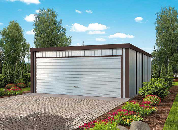 Projekt Domu Gb17 Garaż Blaszany Dwustanowiskowy Domiportapl