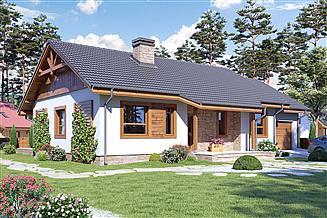 Projekt domu Julek z garażem 1-st. [A]