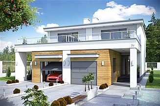 Projekt domu Long z garażem 1-st. bliźniak [A-BL1]