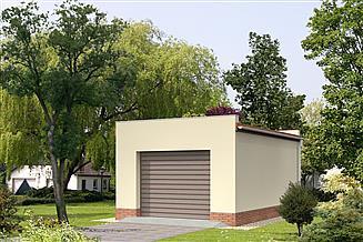 Projekt garażu Garaż G01