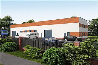 Projekt garażu G313 Garaż / Magazyn z pomieszczeniami gospodarczymi