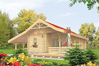 Projekt domu Aniela (z wiatą)