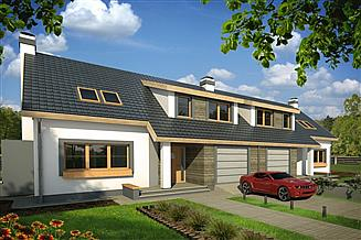 Projekt domu Rodzynek bliźniak 2A garaż