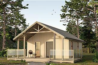 Projekt domu letniskowego DL-3