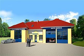 Projekt warsztatu Warsztat napraw samochodów ze stacją diagnostyczną do 3,5 t U59