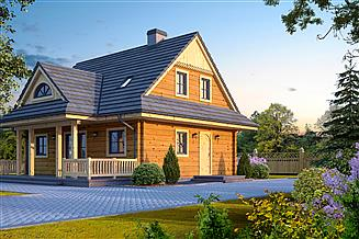 Projekt domu Jodłownik dw