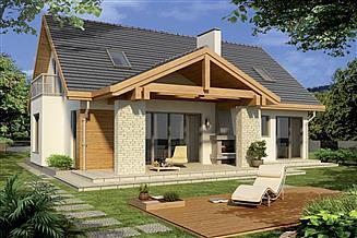 Projekt domu Aston 2A garaż
